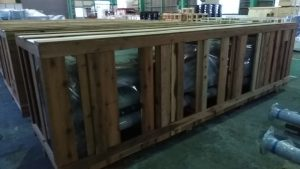 国内用 重量物木枠梱包です。輸送梱包 梱包作業